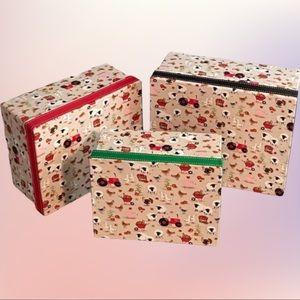 Handmade Fabric Nesting Boxes 3pc Farm Animals
